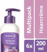 Andrélon perfecte puntjes  - 200 ml - crème  - 6 st - voordeelverpakking
