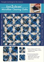 Fast2clean Pineapples Quilt Microfiber Cleaning Cloths: 1 Large Cloth, Plus 1 Medium and 2 Mini Static-Cling Cleaners