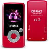 Difrnce MP1570 - MP4 speler - 4GB - Rood