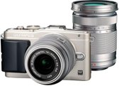 Olympus PEN E-PL6 + EZ-M14-42mm II R + EZ-M40-150mm R - Systeemcamera - Zilver