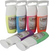 Puff liner 3D - Verf - 6x33 ml - Neon Kleuren