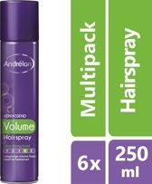 Andrélon verrassend volume  - 250 ml - hairspray - 6 st - voordeelverpakking