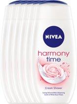NIVEA Harmony Time - 250 ml - Douchegel - 6 st - Voordeelverpakking