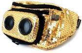 JammyPack SUPER DIAMOND (GOLD) heuptas met 5W stereo mini-speakers voor iPhone, mobiel of smartphone
