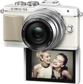 Olympus PEN E-PL7 + EZ-M 14-42mm Pancake Zoom Kit  - Systeemcamera - Wit