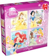 Jumbo Disney Princess 4 in 1 - Puzzel - 16 stukjes