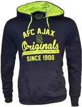Ajax Sweater hooded away zwart geel maat m