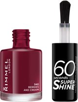 Rimmel London 60 seconds supershine nailpolish - 322 Berries And Cream - Nagellak