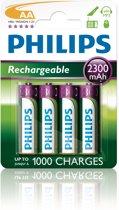 Philips R6B4A230 - Oplaadbare AA batterijen - 4 stuks
