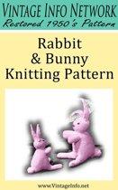Rabbit and Bunny Knitting Pattern: Stuffed Rabbit Toy Pattern
