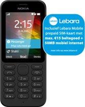 Nokia 215 - Lebara Prepaid - Zwart