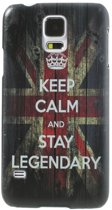 Mesh - Samsung Galaxy S5 - Hard Back Case Hoesje Keep Calm and Stay Legendary
