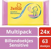Zwitsal sensitive  - 24x 63st - billendoekjes