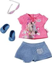 Baby born Jeans Outfit met Roze T-Shirt - Poppenkleding