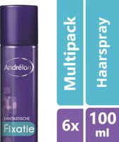 Andrélon fantastische fixatie  - 100ml - hairspray - 6 st - voordeelverpakking