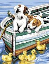 Schilderen Op Nummer Puppy met Eendjes