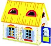Goki Houten poppenhuis cottage met meubels