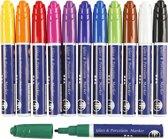 Glas- & Porselein Stiften - Assortiment,  3 mm lijn, kleuren assorti, semi-dekkend, 12 assorti