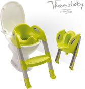 Thermobaby Kiddyloo toilettrainer - grijs/lime