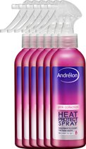 Andrélon  Pink Collection - 200 ml - heat protect spray - 6 st - voordeelverpakking