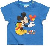 Mickey Mouse Jongens T-shirt - blauw - Maat 12 mnd