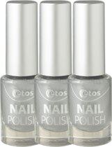 Etos Nailpolish 078 - Silver Paint - Duo - Zilver - 3 stuks - Nagellak