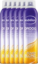 Andrélon zomerblond  - 245 ml - droog shampoo - 6 st - voordeelverpakking