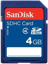 Sandisk SD kaart 4 GB