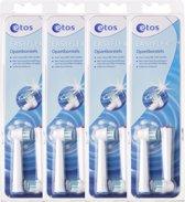 Etos Easyflex - 4x 2 st - Opzetborstels