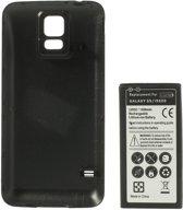qMust Samsung Galaxy S5 / S5 Plus Extended Battery Pack - vervangt accu - 6500mAh - Black