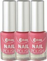 Etos Nailpolish 084 - Pink Sugar - Sugar - Roze - 3 stuks - Nagellak