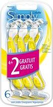 Gillette Simply Venus 3+ - 4+2 stuks - Wegwerpscheermesjes
