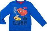 Disney cars Jongens T-shirt - Blauw - Maat 128