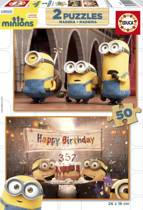 Educa HOUT: Happy Birthday Minions- 2 x 50 stukjes