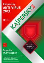 Kaspersky Anti-Virus 2013 - Benelux / 1 PC / 1 jaar / DVD