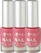 Etos Nailpolish 015 - Love All Over - Roze - 3 stuks - Nagellak