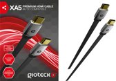 Gioteck XA5 HDMI Kabel 1.4 - Zwart (PS4 + PS3 + Xbox One + Xbox 360)