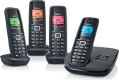 Gigaset A510A - Quattro DECT telefoon met antwoordapparaat - Zwart