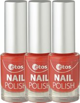 Etos Nailpolish 020 - Red All Over - Rood - 3 stuks - Nagellak