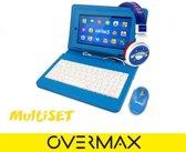 Overmax Edutab 3 + Multiset Blauw, Kindertablet, hoes met keyboard, stylus, muis en hoofdtelefoon