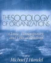 The Sociology Of Organizations