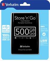 Verbatim Store n Go - Portable 500 GB - USB 3.0 / Zwart