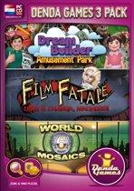 Denda Games 3 Pack: Amusement Park + Film Fatale: Lights, Camera, Madness + World Mosaics 6