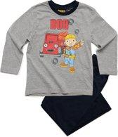 Bob de Bouwer Jongens Pyjama - grijs;blauw - Maat 92
