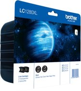 Brother LC-1280XLBKBP2 - Inktcartridge / Zwart