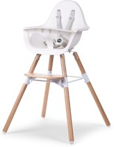CHILDWOOD - EVOLU 2 STOEL NATUREL / WIT 2 in 1+BEUGEL