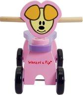 Woezel & Pip Houten Vierwieler - Pip Roze