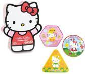 Hello Kitty 3 houten puzzels in mooie vormdoos