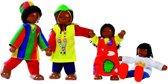 Goki Houten buigpopjes set afrikaanse familie 9-11cm