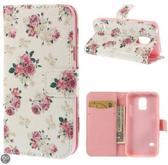 Samsung Galaxy S5 mini agenda book case roosjes hoesje